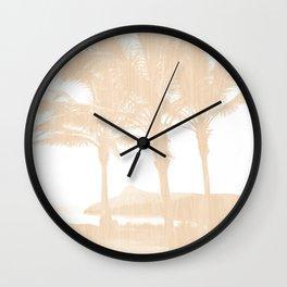 Tropical wood Wall Clock