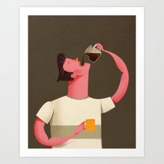 Coffee Drinker Art Print