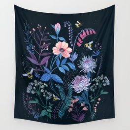 Bees Garden Wall Tapestry