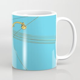 Cables and wires over Queen and Bathurst Coffee Mug
