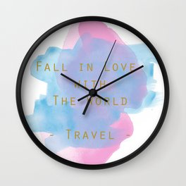 Wanderlust - Fall in Love with the World Wall Clock