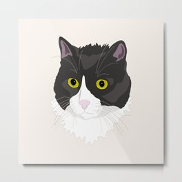 Casual Cat Metal Print