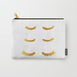Gold Eyelashes Illustration Art Carry-All Pouch