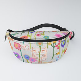 Caterday in the Flower Garden Fanny Pack