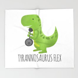Tyrannosaurus Flex Throw Blanket