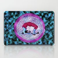 yoga iPad Cases featuring yoga by Abraxas (luciana cabane)