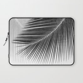 Palm leaf synchronicity - bw Laptop Sleeve