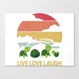LIVE LOVE LAUGH TURTLE Canvas Print
