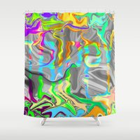 trippy Shower Curtains featuring Trippy by Calepotts
