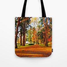 Autumn pathway Tote Bag