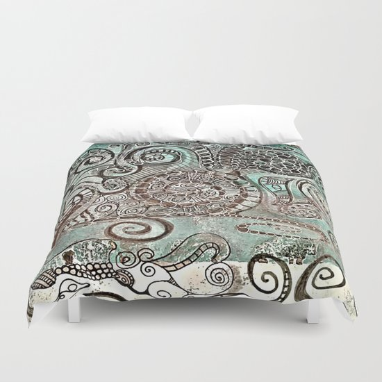 Journal Swirl Duvet Cover