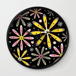Fluer Milk Flowers Wall Clock