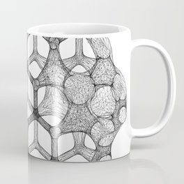 GEOMETRIC NATURE: COGNITIVE HEXAGON w/b Coffee Mug