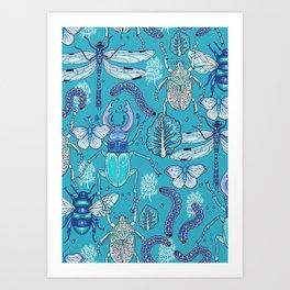 blue bugs Art Print