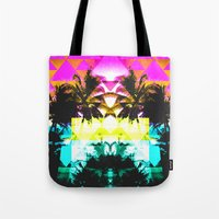 hawaiian Tote Bags featuring Hawaiian Quilt by The Digital Weaver
