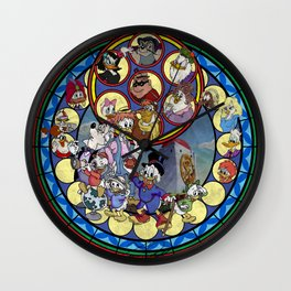 DuckTales Stained Glass Drawing  Wall Clock