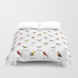 50 State Birds (White) Duvet Cover