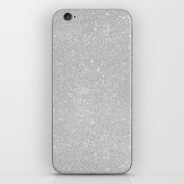 Pastel Grey Glitter iPhone Skin