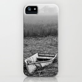 Abandoned Marsh Boat iPhone Case