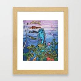 Koinobori hover in the wind Framed Art Print