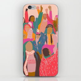 Womens march iPhone Skin