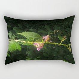 Blackberries Flowers Rectangular Pillow