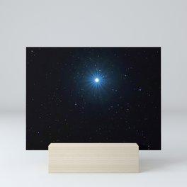 Sirius Brightest star on Night sky, Sirius Star Mini Art Print