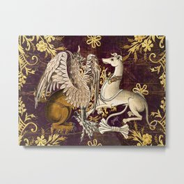 Gryphon and Greyhound - Garden of Beasts Collection Metal Print