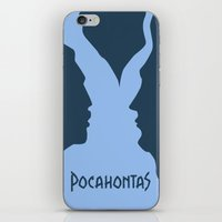 pocahontas iPhone & iPod Skins featuring Pocahontas by Citron Vert