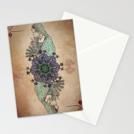 Arabesque Deck of Cards Queen Diamonds Stationery Cards