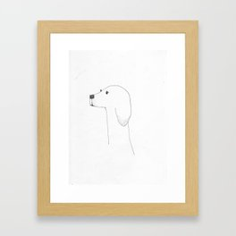 Dog Head Framed Art Print