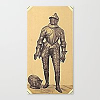 andreas preis Canvas Prints featuring Andreas Groll (photographer, 1812–1872): Armour / Rüstung by Ouijawedge