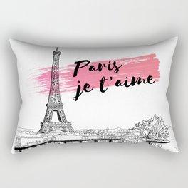 Paris je t'aime Rectangular Pillow