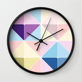 Geometric Shades of Colour Wall Clock