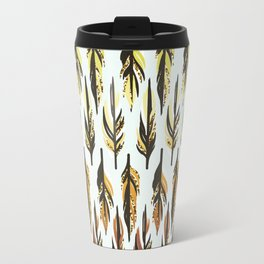 Boho Feather Pattern Travel Mug