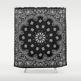 Bandana Black - Traditional Shower Curtain