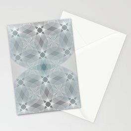 Colliding Circles in Teal and Grey Stationery Cards