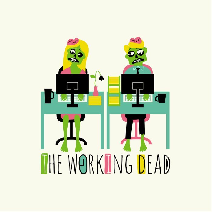 The working dead Duvet Cover