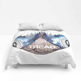 Trails to tread backpacker patch Comforters