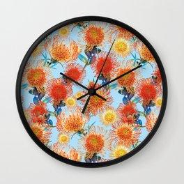 Pattern - Leucospermum flowers Wall Clock
