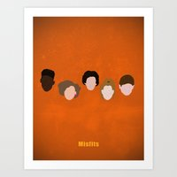 misfits Art Prints featuring Minimalism Misfits  by Mercedes Lopez