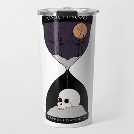 Time Forever Favours The Young Travel Mug