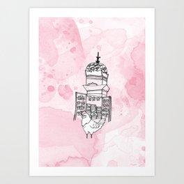 Le beau coq Art Print