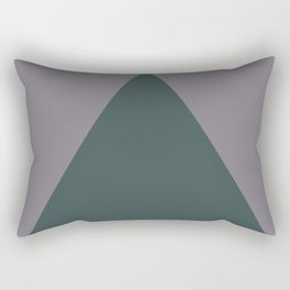 Night Watch PPG1145-7  Triangle and Magic Dust Muted Purple PPG13-24 Geometric Shapes Minimal Art Rectangular Pillow