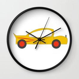 Yellow car Design Print Wall Clock