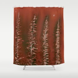 Tamarack Trees Shower Curtain