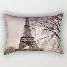 Eiffel Tower Paris in pink Rectangular Pillow