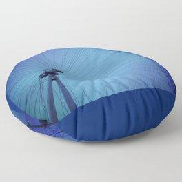 London Eye Blues Floor Pillow