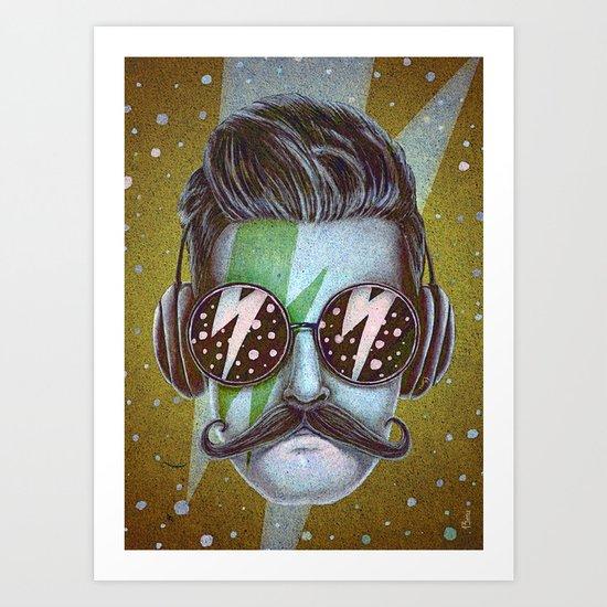 Dude (green) Art Print