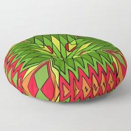 Poinsettia Flower Floor Pillow